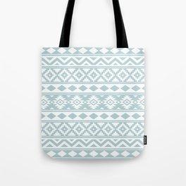 Aztec Essence Ptn IIIb Duck Egg Blue & White Tote Bag