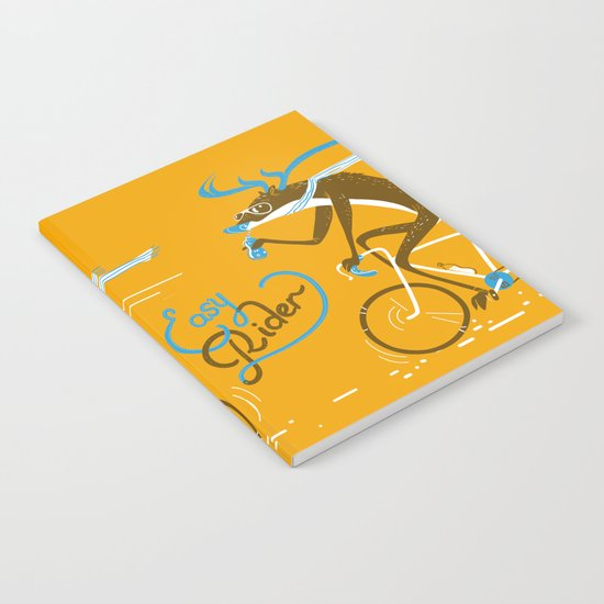 Easy Rider // (cycling hipster deer) Notebook