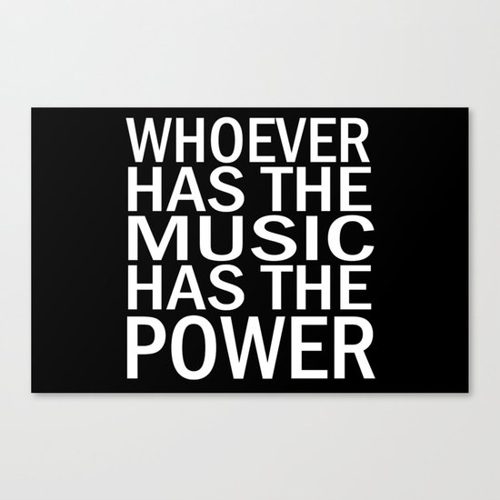 The Power of Music Canvas Print