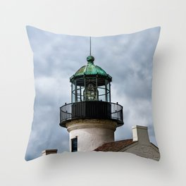 Cabrillo Lighthouse against the Storm Throw Pillow