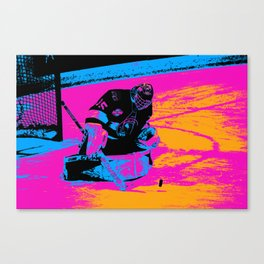 And the Puck Stops Here! - Hockey Goalie Canvas Print