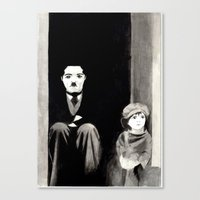 chaplin Canvas Prints featuring Chaplin by Artusual