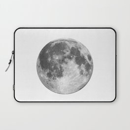 Full Moon phase print black-white monochrome new lunar eclipse poster home bedroom wall decor Laptop Sleeve