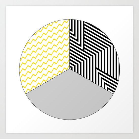 Geometric Circle #2 Art Print