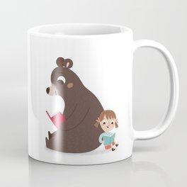 Reading with Bear Coffee Mug