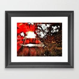 Salt Marsh Starburst Framed Art Print