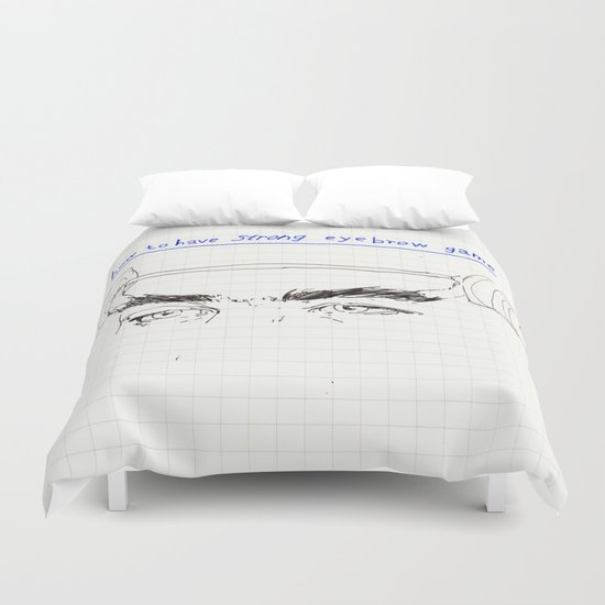 strong eyebrows Duvet Cover