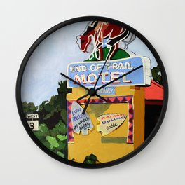 End of Trail Wall Clock