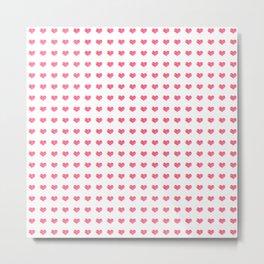 Watercolor Hearts Pattern 1 Metal Print