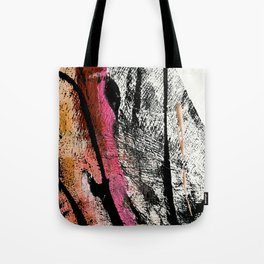 Motivation [2] : a colorful, vibrant abstract piece in pink red, gold, black and white Tote Bag