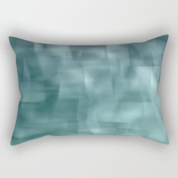 Blue and white abstract ice Rectangular Pillow