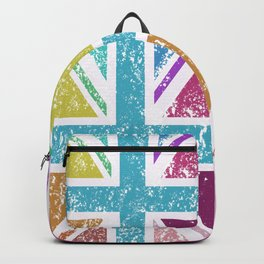 Distressed Multicol Union Jack/Flag Backpack