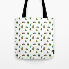 Succulent Pattern Tote Bag