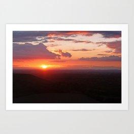 Chilterns Sunset Art Print