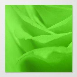 Lime Green Silk Effect Canvas Print