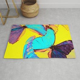 Shiny and colorful butterflies #decor #society6 #buyart Rug