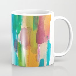 180812 Abstract Watercolour Expressionism 8| Colorful Abstract | Modern Watercolor Art Coffee Mug