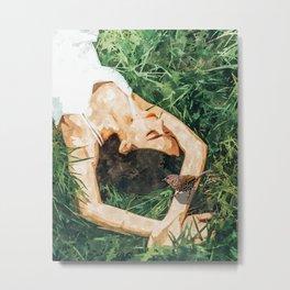 Jungle Vacay #painting #portrait Metal Print