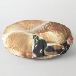 Chanterelle mushrooms in the forest Floor Pillow