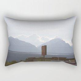 Mountains at sunset along the Coquihalla Rectangular Pillow