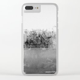A través del cristal (black and white version) Clear iPhone Case