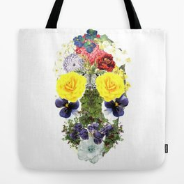 Skull Flowers Tote Bag