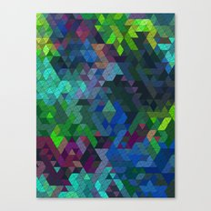 Soft Mini Triangles Canvas Print
