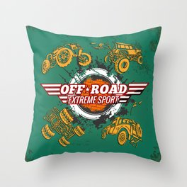 Offroad Extreme Sport Throw Pillow