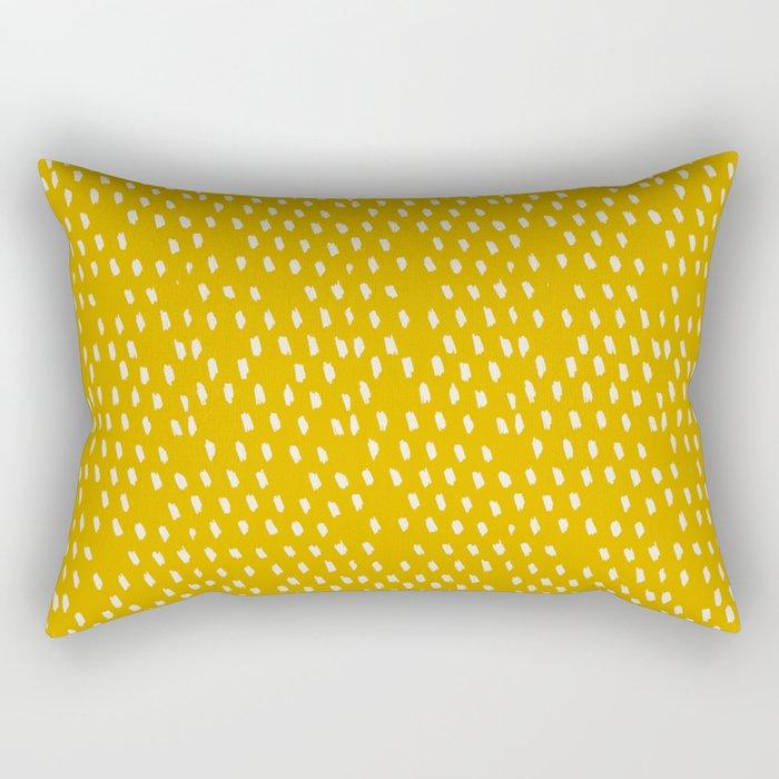 Yellow Modernist Rectangular Pillow