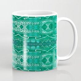 Vintage Tribal Distressed Green Coffee Mug