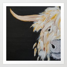 Oro, the Highland Cow Art Print