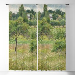 "Camille Pissarro ""Apple trees in Éragny"" (""Pommiers à Éragny"") Blackout Curtain"