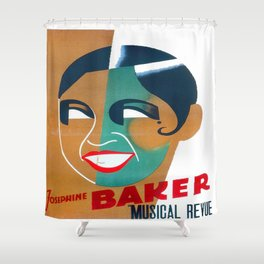 Josephine Baker Vintage Poster for Stockholm Shower Curtain