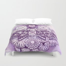 Crown Chakra - Witches of the Nine Worlds Duvet Cover