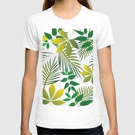Junge Leaf pattern T-shirt