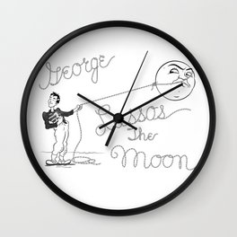 It's a Wonderful Life - George Lassos the Moon Wall Clock