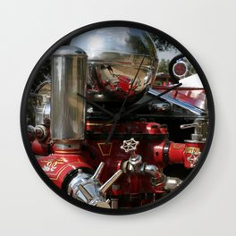 Old Fire Truck Wall Clock