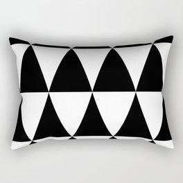 Triangle waves and swirls Rectangular Pillow