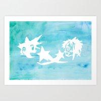 kingdom hearts Art Prints featuring Kingdom Hearts Watercolor by Sierra Wheeler