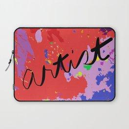 ARTIST in reds, blues, purples Laptop Sleeve