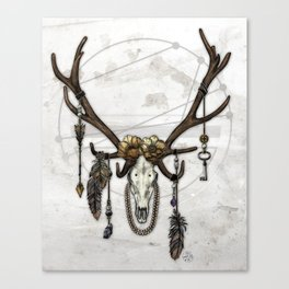 Bestial Crowns: The Elk Canvas Print