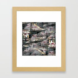 Think grief obfuscation inklings. Framed Art Print
