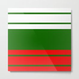 Team Colors 9...red , green  and white Metal Print