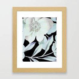 camellia on black Framed Art Print