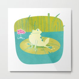 The Frog Who Would Be as Big as an Ox Metal Print