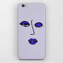 Indigo Purple Vampy Vixen iPhone Skin