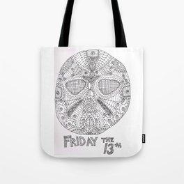Hockey Mask Doodle Tote Bag