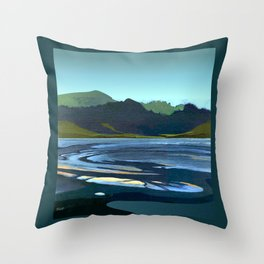 Low Tide, Late Evening Throw Pillow