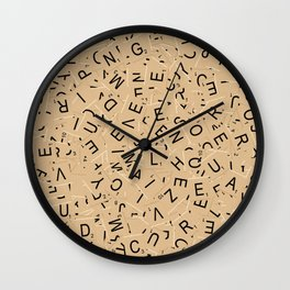 Scrabble Letters Wall Clock