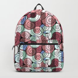 Abstract pattern of a Spiral . Backpack